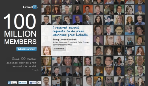 Sandy Jones-Kaminski featured on LinkedIn's 100M Member campaign